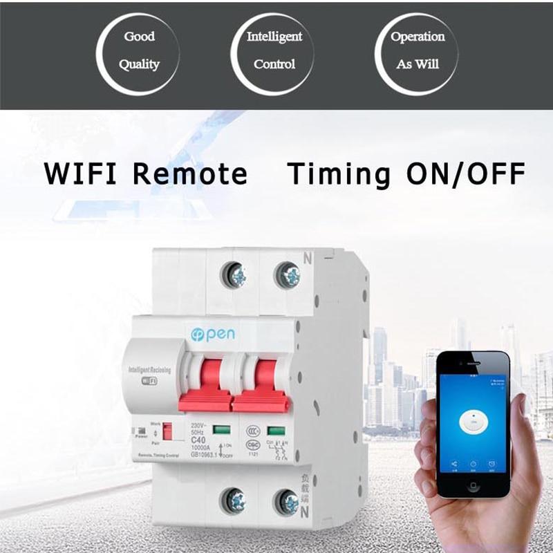 Открытым C40 2 P удаленного Управление сроки переключатель задержки комплект Функция Автоматическая блокировка интеллектуальные АПВ Wi-Fi вык...