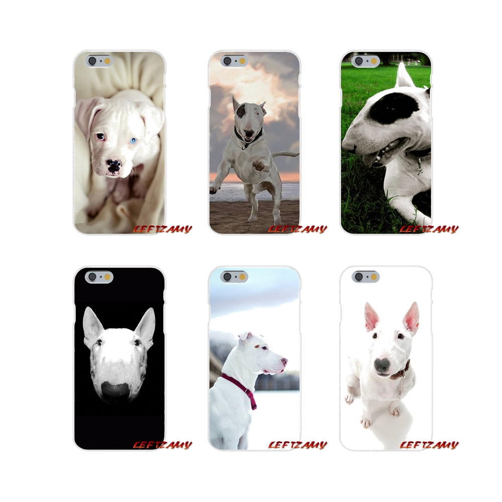 For iPhone X 4 4S 5 5S 5C SE 6 6S 7 8 Plus Accessories Phone Shell Covers bullterrier bull terrier