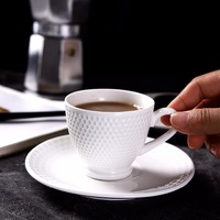 6 Pcs/Set 3 oz Noble Porcelain Espresso Coffee Cup Set Ceramic Creative Tea Cups Beatiful Drinkware Gift