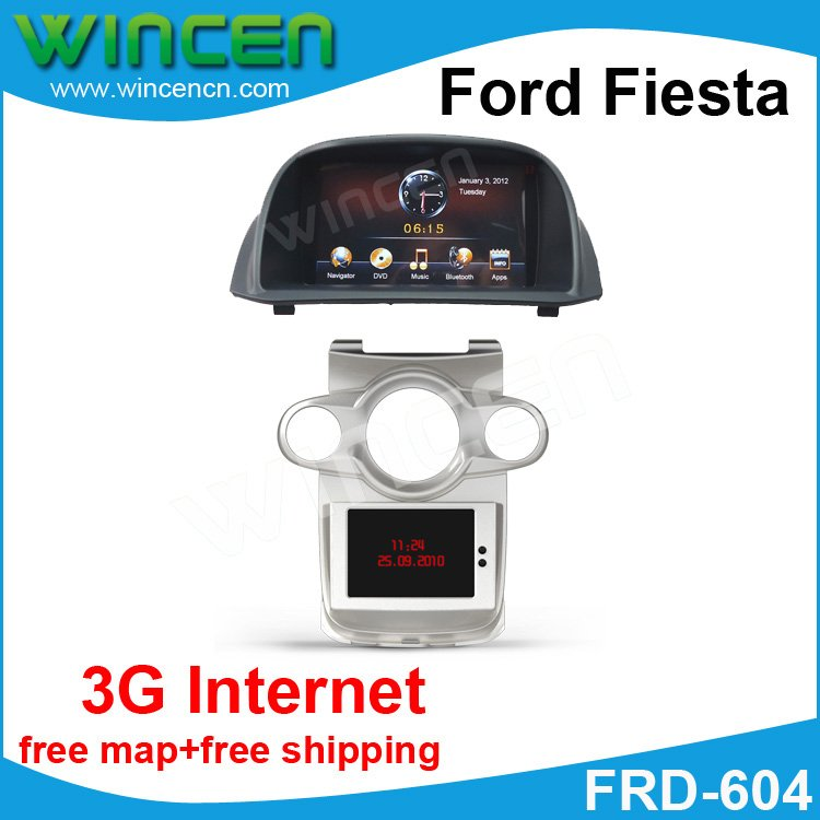 Road Rover Brand 7 Car DVD GPS Player for Ford Fiesta support the original small screen display Free shipping and map