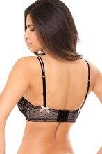 MiaoErSiDai Floral Lace Bras For Women Pink Bow Brassiere Plus Size Bralette B C D DD DDD E F Cup 30 32 34 36 38 NO.SR7613