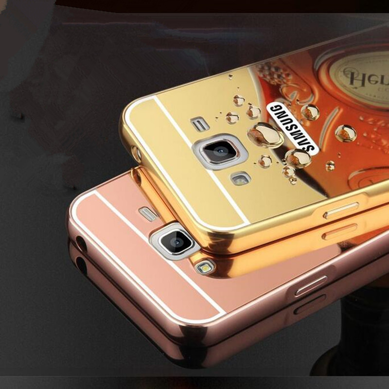 For Samsung Galaxy J2 Prime Case Luxury Rose Gold Plating Mirror Phone Cases
