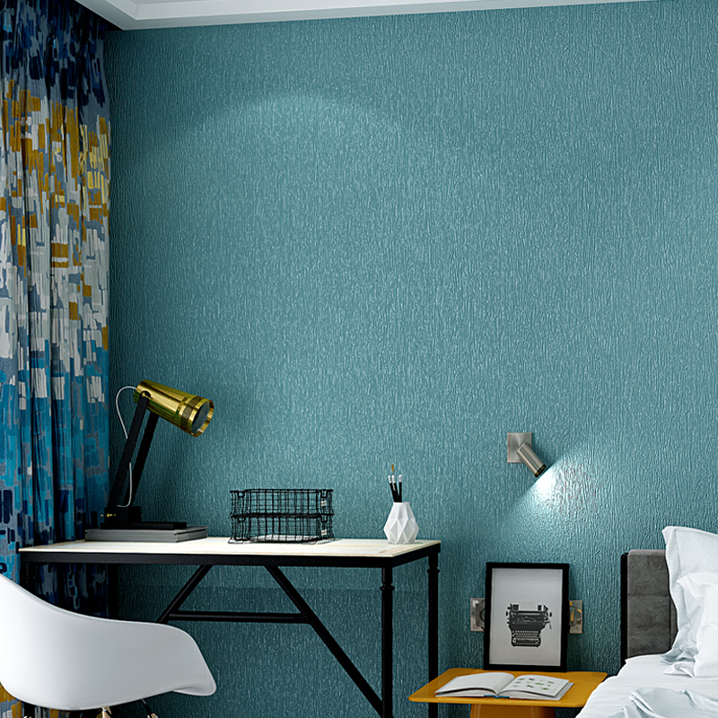Modern Simple PVC Wallpaper Roll 3D Embossed Waterproof Blue Grey Plain Color Wall Paper Living Room Bedroom Study 3D Home Decor mediterranean style sky blue wallpaper modern pure color wall paper roll for bed room livingroom