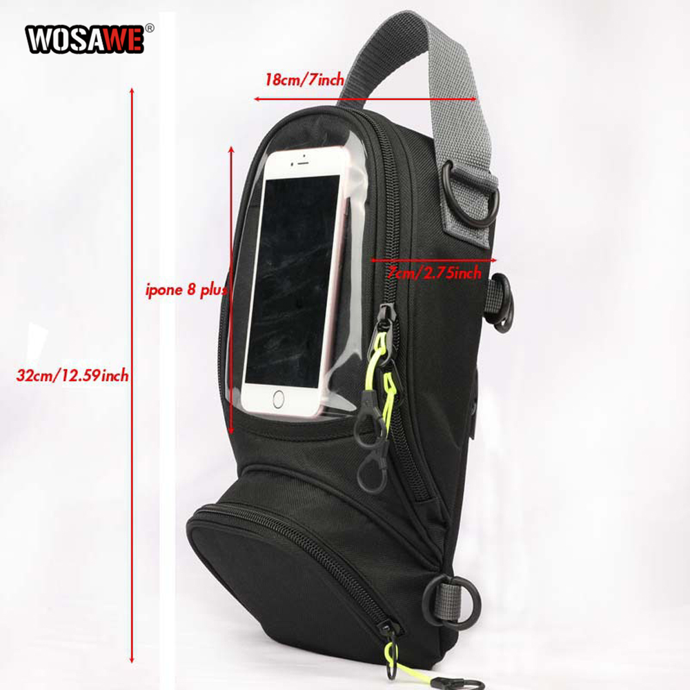 Image 3 - WOSAWE Motorcycle Fuel Bag Mobile Phone Navigation Bag Multi functional Small Oil Tank Package Magnetic Fixed Straps Fixed-in Tank Bags from Automobiles & Motorcycles