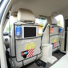 Утепленные окружающей среды ПВХ покрытие заднем сиденье автомобиля протектор ногами Коврики для детей Стульчики детские-с органайзером для Ipad и напиток