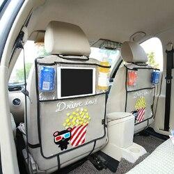 Утепленные окружающей среды ПВХ покрытие заднем сиденье автомобиля протектор ногами Коврики для детей Стульчики детские-с органайзером дл...