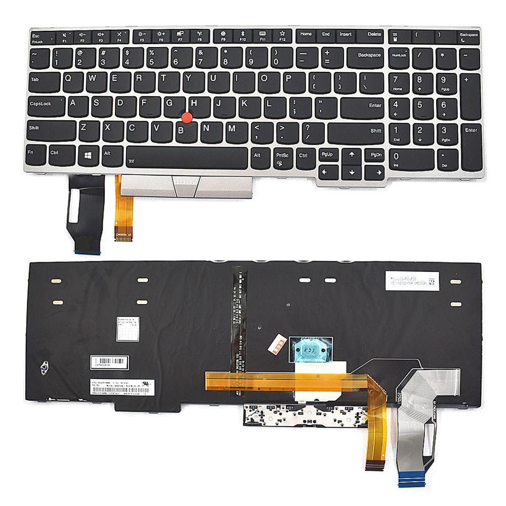 Backlight Keyboard FOR Lenovo ThinkPad E580 L580 01YP680 SN5372BL new original for lenovo thinkpad e580 l580 p52 us english backlit keyboard backlight teclado 01yp680 sn20p34496 01yp600 01yp760