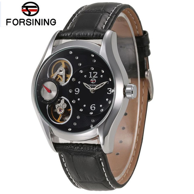 Online Shop Fashion Forsining Women's Quartz Black Dial Wristwatch ...