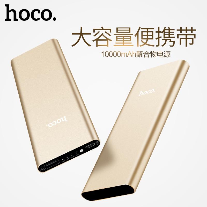 HOCO 10000 mAh Banco de la Energía Sola USB Portátil Powerbank Móvil para Apple
