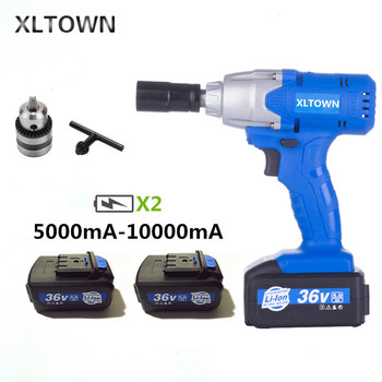Xltown the new 21V electric wrench rechargeable 5000 mAh-10000 mA lithium battery electric wrench strong torque power tools