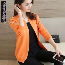 OHCLOTHING A short paragraph cardigan sweater dress female 2017 new spring coat sweater slim blouse solid Women cardigan