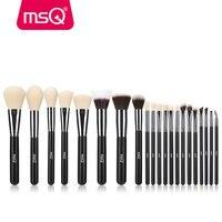 MSQ 21pcs Professional Makeup Brush Set High Quality Synthetic Hair Foundation Powder Blush Eyelash Eyeshadow Make