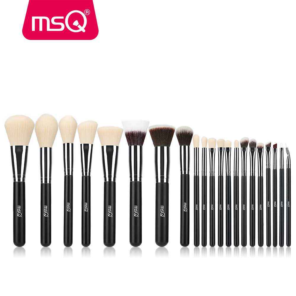 MSQ 21pcs Professional Makeup Brush Set High Quality Synthetic Hair Foundation Powder Blush Eyelash Eyeshadow Make Up Brush Kits professional makeup brush kits wood synthetic hair powder foundation makeup eye shadow brush tools 12 pcs set fashion maquiagem