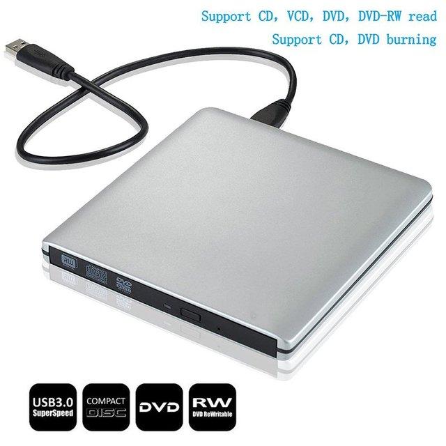 [Navio dos EUA] drive óptico externo usb 3.0 dvd rom cd/dvd rw burner escritor para apple imacbook air laptop pro computador