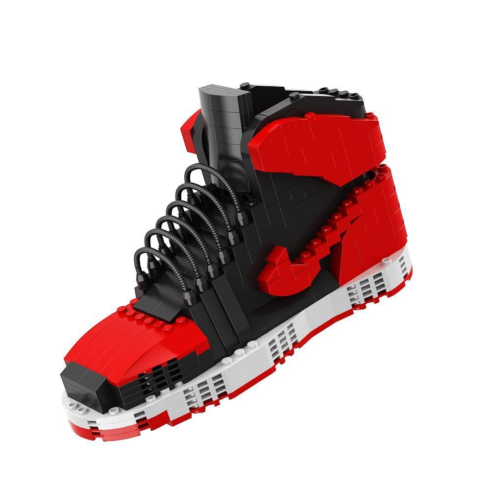 Howplay Black and red AJ1 blocks in Chicago Basketball shoes Gym shoes Give a gift to a boyfriend boy toy jordan shoes clark competition in blood services pr only conf chicago june 1986
