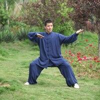 Kids Adults Lightcotton Tai Chi Uniform Martial Arts Suit Kung Fu Wushu Wing Chun Clothes On