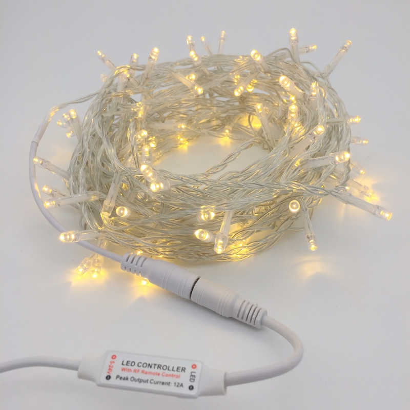 DC12V Led String Light 10M 20M 30M 50M 100M White Warm White Garland Lamp Fairy Christmas Wedding Party Holiday Decoration Light 2 5 10m 10 38led holiday lights 5cm big balls led light string ac plug rgb warm white xmas garland christmas fairy decoration da