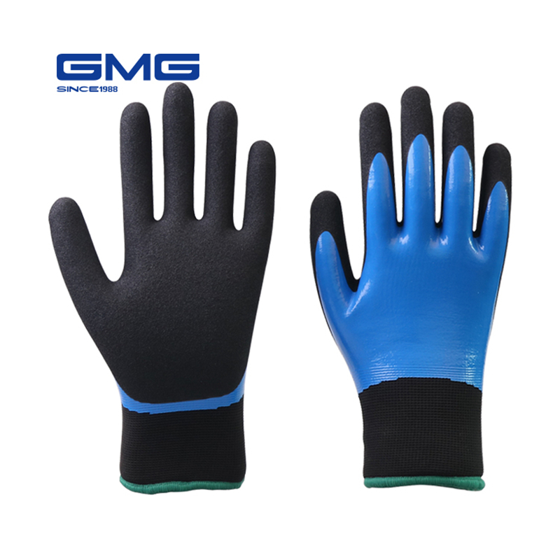 Warm Work Gloves For Winter Waterproof Nitrile Double Shell Thermal Work Gloves Safety Work Gloves Waterproof