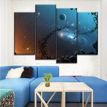 4 Piece Canvas HD Print Abstract Space Milky Way Paintings Modern Home Decorations Wall Poster Free Shipping Dropshipping