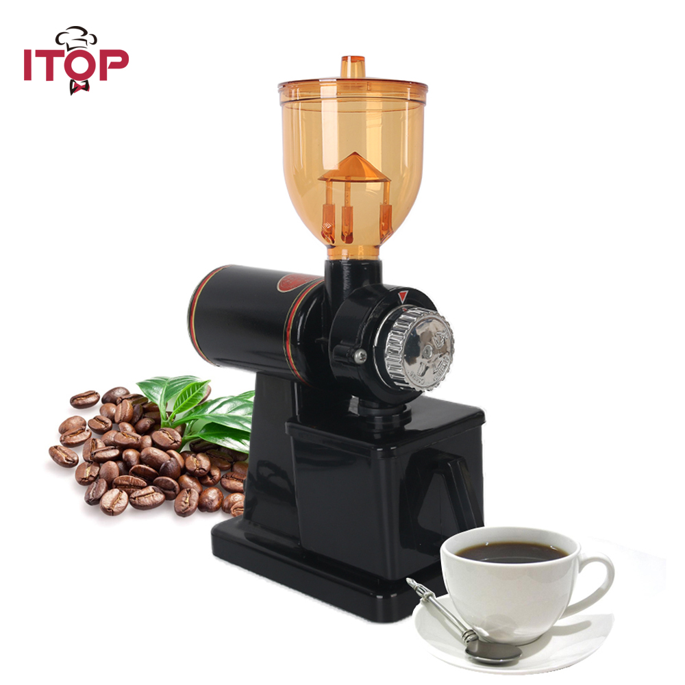 ITOP moulin à café Machine électrique moulin à café en grains noix fraiseuse outils à café processeurs alimentaires 220 V/110 V