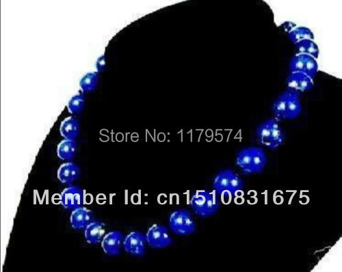 Noble and beautiful Woman all-match wholesale and retail new lady all-match 10mm Lapis Necklace Fashion Jewelry Making xu123