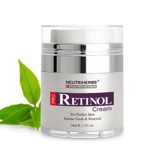 Image 2 - % 2.5% Retinol nemlendirici yüz kremi hyaluronik asit vitamini E kollajen Anti Aging kırışıklık vitamini pürüzsüz beyazlatıcı krem 50ml