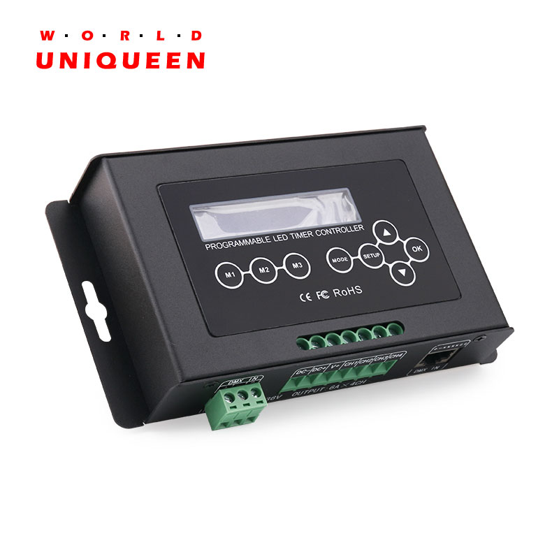 322-6A Time Programmable LED Controller, DC12-36V 4CH 24A LED Timer Controller, Built In Storm, Lightning, Sunrise, Sunset Speci