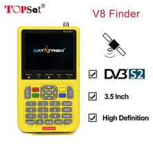 V8 Finder DVB-S2 High Definition Digital Satellite Finder MPEG-4 DVB S2 Satellite Meter Full 1080P whit 3000mA FTA Sat finder