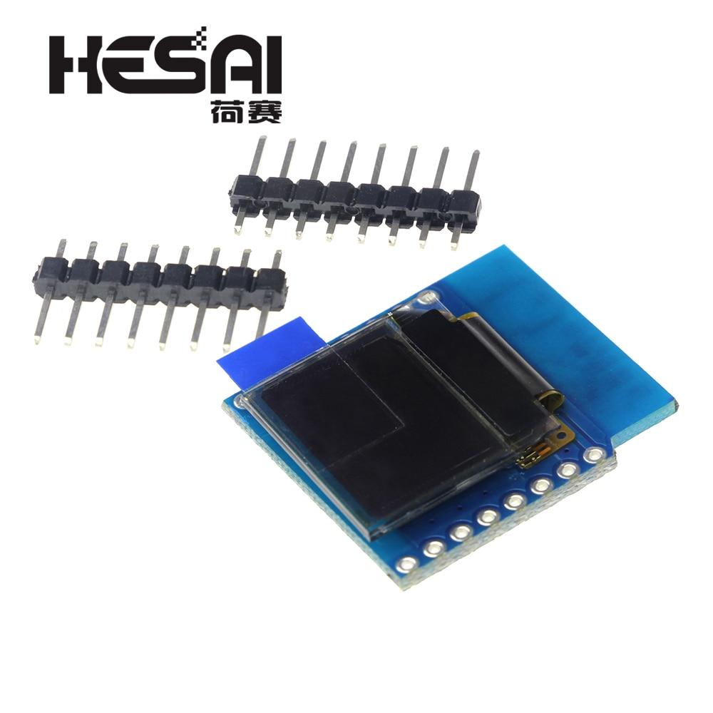 Smart Electronics 0.66 Inch OLED I2C Shield D1 Mini 64X48 IIC For Arduino Diy Kit