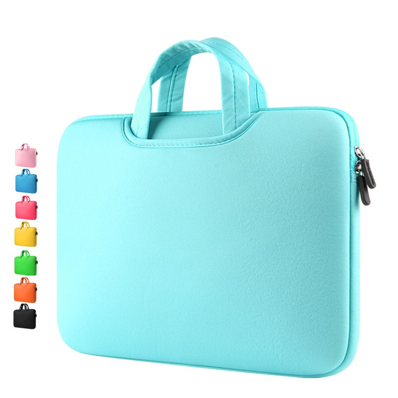 Laptop handbags sleeve case sponge breathing material computer laptops bag solid notebook tablet bags 11 13