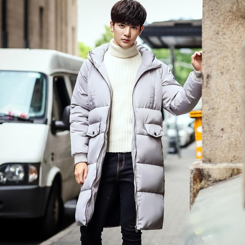 Couples Vers Bas Plus 3xl 2018 La Nouveau Hiver Taille Le Hommes Vestes Manteaux Long D'hiver Coton Robe Outwear Rembourré J3TKcl15uF
