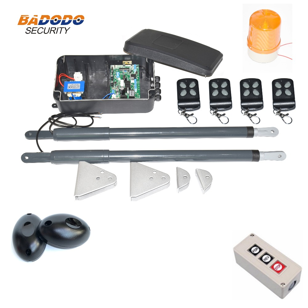 Image 4 - 200KG Automatic dual arms electric swing door gate Opener Operator Motor actuator closer swing gate opener for access control-in Access Control Kits from Security & Protection