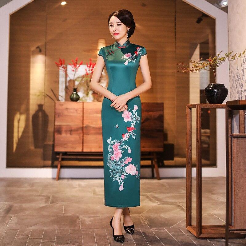 7f6ff45ead5 Sexy-Long-Cheongsam-2019-D-t-Vintage-style-Chinois-Robe-De-Mode-Femmes -Rayonne-Qipao-Mince.jpg