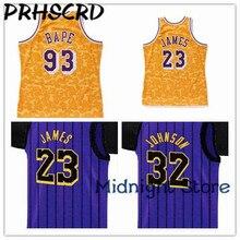 PRHSCRD 2019 New Basketball Jersey 93 Bapes Classic stars Jersey 23 James  32 Johnson Pruple and 5c4e59f82