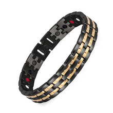 Stainless Steel Electroplated Black Gold Mens Four-in-one Bracelet