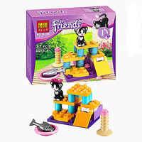 Die neue Freunde Katzen Spielplatz Set Serie Marke Baustein Spielzeug Montieren spielzeug geschenk für kinder Kompatibel mit legoe Freunde