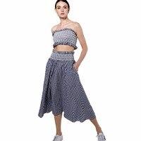 2017 News Summer Women Maxi Long Sexy Casual Long Dress Plaid Sleeveless Strapless Lolita Summer Beach