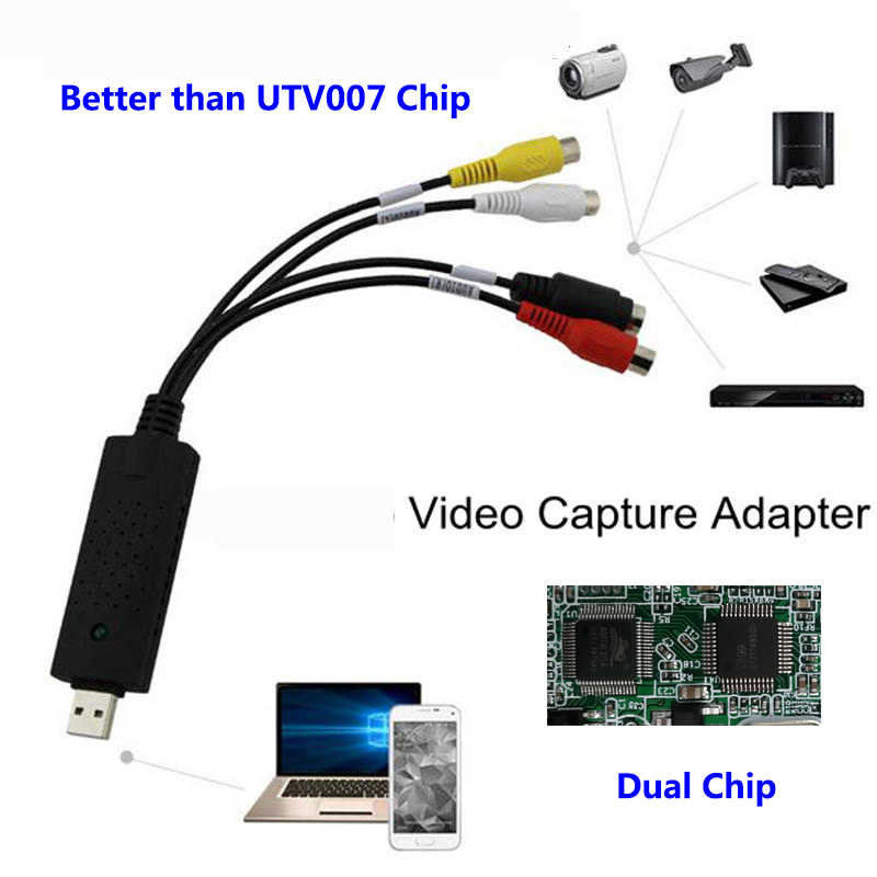 USB 2.0 HDMI ke RCA adapter OTG Android converter Audio Kabel PC TV DVD VHS Video capture perangkat televisi AMT630A konektor