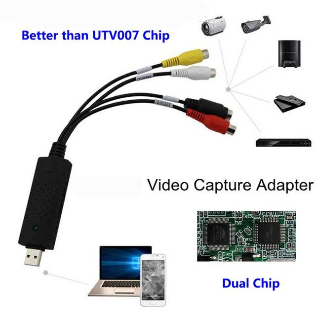 USB 2,0 HDMI a RCA adaptador OTG Android convertidor de Video de Audio PC CableS TV DVD VHS dispositivo de captura de AMT630A televisión conector