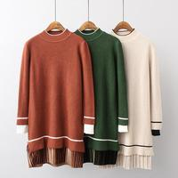 2019 Winter Turtleneck Pullovers Women's Striped Sweaters Wool Knitted Jumper Tops Feature Product