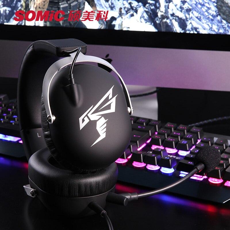 SOMIC Gaming Headsets usb 7.1 Virtual hoofdtelefoon casque met Microfoon voor PS4 PC Computer Gamer Video Game Xbox Game oortelefoon - 6