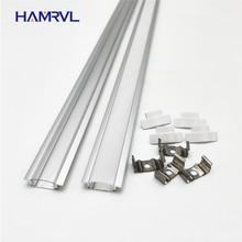 2 20pcs / lot 0.5m pc led slot, embedded aluminum profile for 5050 5630  strip, milky  transparent cover  12mm pcb
