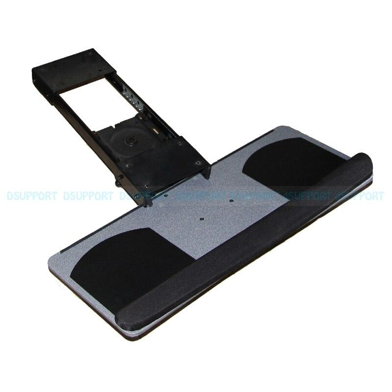 Ergonomic Sliding Tilting XL Size Wrist Rest Keyboard Holder with Two Mouse Pads for Computer Desk