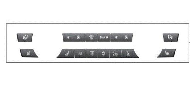 Kit de réparation de capuchons de clé à 14 boutons interrupteur de chauffage A/C pour BMW F07 F10 F11 F01 535i 550i 650i 750i 61319313924