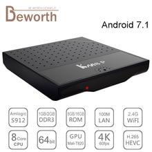 KM8 P TV Box Android 7.1 Amlogic S912 Octa Core H.265 4 К 2 ГБ/16 ГБ Wi-Fi KM8P Kodi17.0 1080 P IPTV Media Player i8 Клавиатура с подсветкой