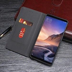 Image 2 - Dla Xiao mi mi Max 3 Case 6.9 cal luksusowe Vintage odwróć PU skóra obudowa do Xiaomi mi Max3 magnetyczny Retro pokrywa z gniazda na kartę