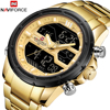 NAVIFORCE Men's Top Brand Dual Display Chronograph Waterproof Luxury Casual Quartz Watches