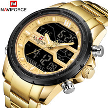 Naviforce Mens Watches Waterproof Quartz Watch Top Brand Luxury Men Casual Sport Watch male Relogio Masculino relojes hombre(China)