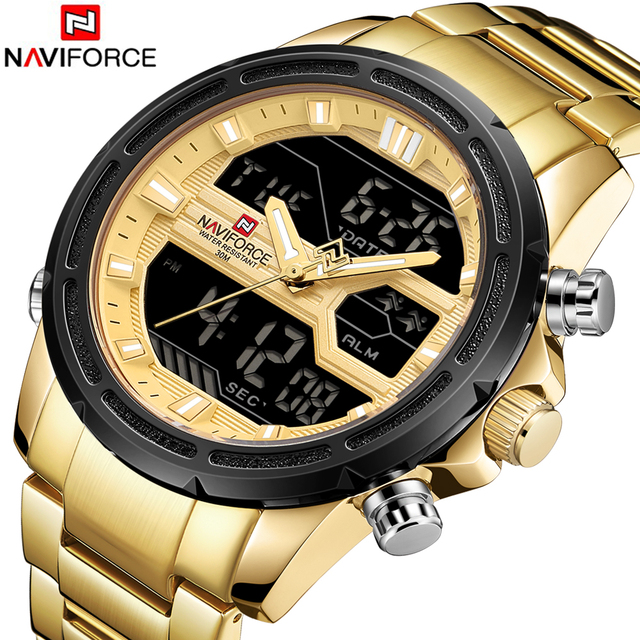 Naviforce Mens Watches Waterproof Quartz Watch Top Brand Luxury Men Casual Sport