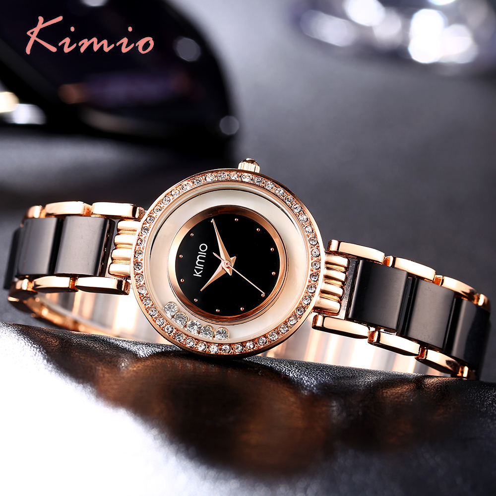KIMIO Women Watch Fashion Crystal Diamond Rolling Rhinestone - Կանացի ժամացույցներ - Լուսանկար 4